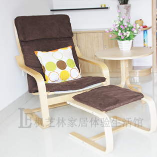 Nordic stijl fauteuils gestoffeerde lounge stoel ikea bentwood ...