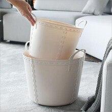 Portable laundry hamper storage basket toy plastic simple household Japanese
