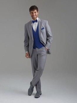 Fashionable Mens Dinner Party Prom Suits Groom Tuxedos Groomsmen Wedding Blazer Suits (Jacket+Pants+Vest+Tie) K:1789