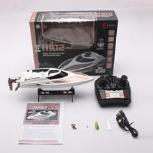 H100 2,4 г 4CH 26 км/ч 180 градусов электрический пульт дистанционного управления гоночная лодка высокая скорость RC лодка Скорость катер флиппинг Дети Открытый игрушки