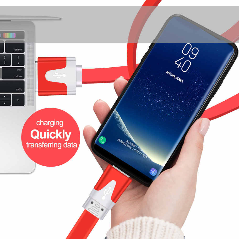 Olaf Micro USB Kabel 2A Fast Charge USB Kabel Data untuk Samsung S8 Xiaomi Tablet Android USB Kabel Pengisian USB Mikro kabel Charger
