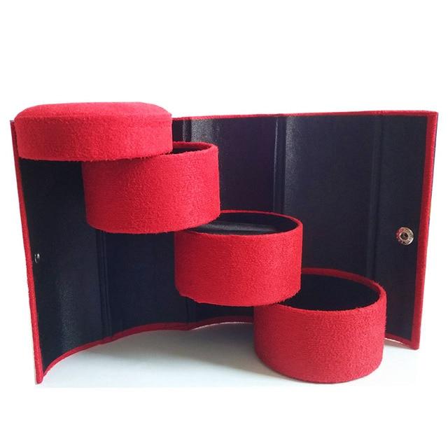Aliexpresscom Buy portable round folding velvet jewelry boxes 4