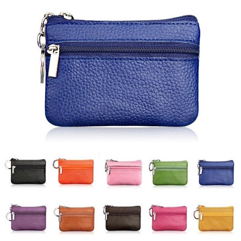 2018 New Women Genuine Leather Coin Purse Female Wallets Women Zipper Coin Purses Children Storage Pocket Bags Pouch #C