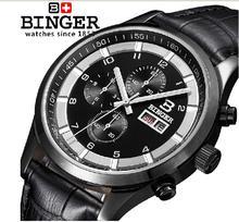 Швейцария часы мужские люксовый бренд Наручные Часы ПЕРЕЕДАНИЯ Кварцевые полный нержавеющей кожаный ремешок стальной водонепроницаемый 300 М BG-0403-4