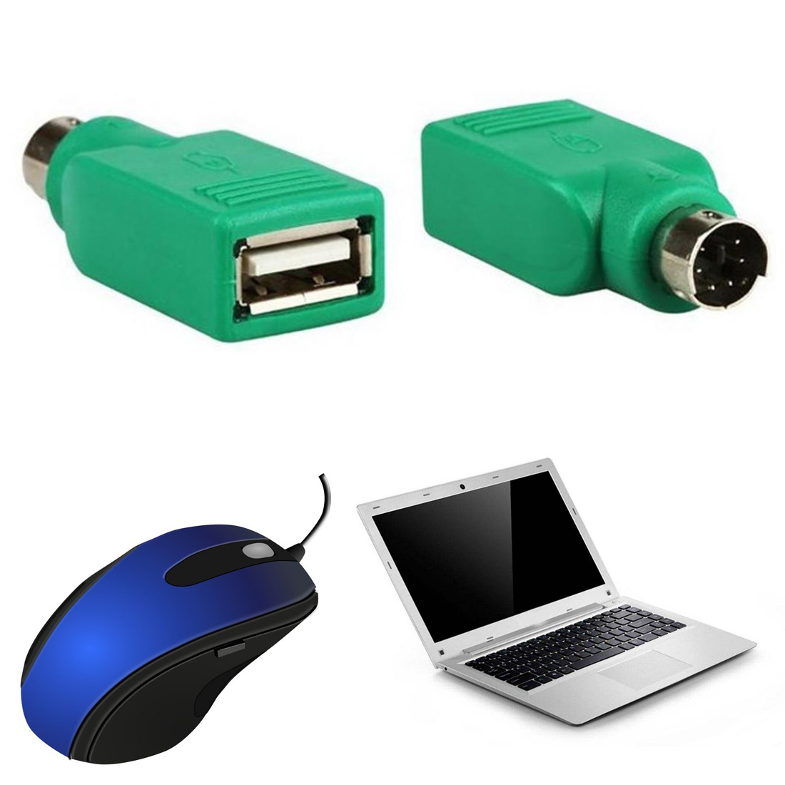 Computer Cables Connector USB Male PS/2 to USB adapter round port to U port converter USB keyboard Adapter Converter