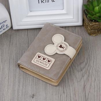 Women small wallet cartoon mickey cute coin purse hasp card holder womens wallet 3