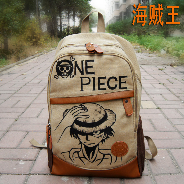 Anime One Piece Cosplay Monkey D Luffy Student bag college wind shoulder bag men and women backpack graffiti canvas bag free ship gou matsuoka long wine red women style anime cosplay wig one ponytail 370f