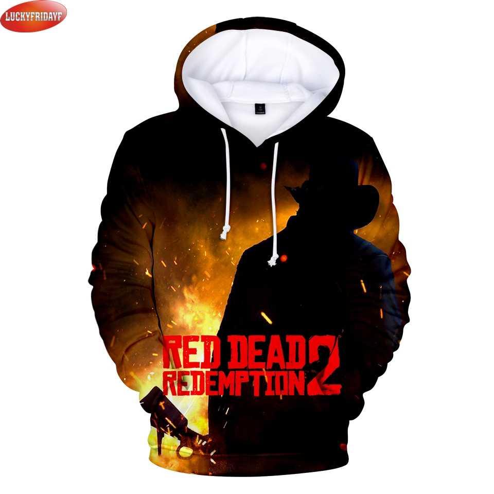 LUCKYFRIDAYF RED DEAD REDEMPTION 2 3D impreso sudaderas con capucha de las  mujeres los hombres b8f0a2166d174