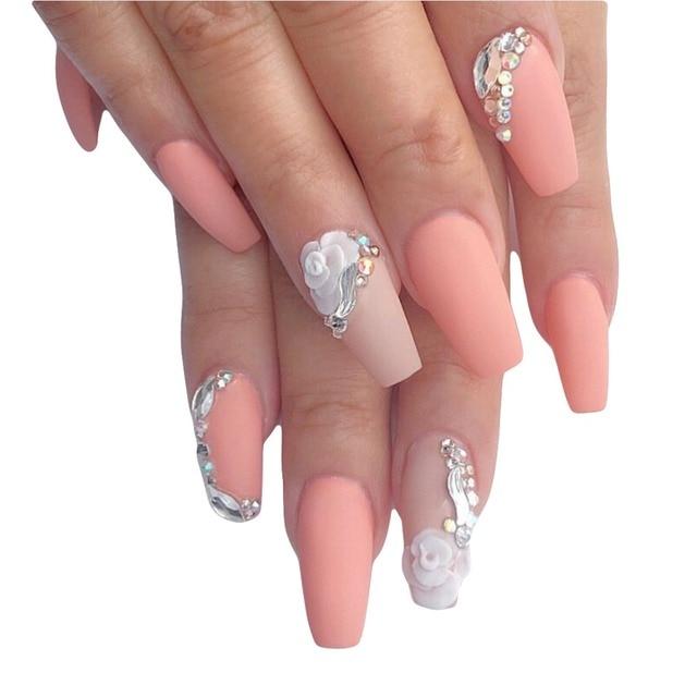 50 designs flat glitter AB color nail art rhinestones gems for 3d ...