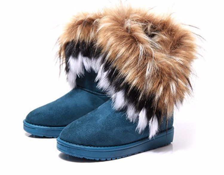 2016 New Fashion Women Snow Boots Round Toe Solid Fur Warm Woman Boots Comfortable Wild Casual Women Shoes Free Shipping ST910 (11)