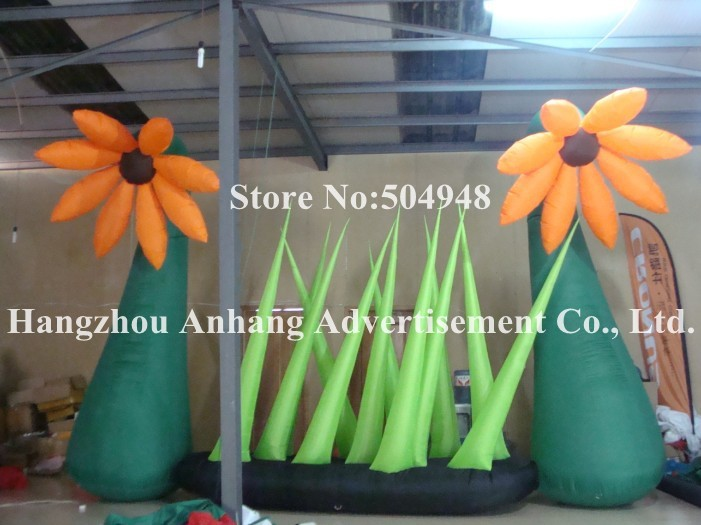 Giant Inflatable Flower For Outdoor Decorations inflatable cartoon customized advertising giant christmas inflatable santa claus for christmas outdoor decoration