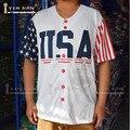 TIM VAN STEENBERGE Donald Trump 45 EE.UU. Jersey de Béisbol 2016 Edición Conmemorativa Cosido Cosido-Blanco
