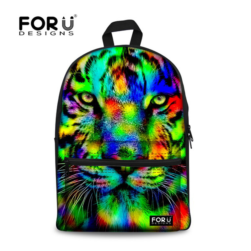 Brand Unique 3D Tiger Head Backpack Women Preppy Printing Backpack Casual Large Capacity Student Girls School