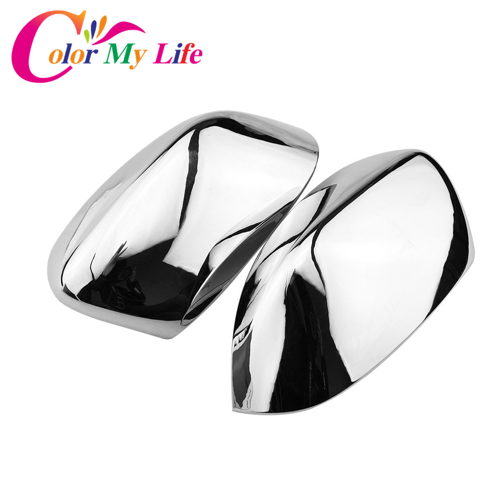 Color My Life Car ABS Chrome Rearview Mirror Protection Cover Rear View Mirror Sticker for Jeep Compass 2017 2018 Accessories abs chrome rear headlight lamp cover for 2011 2013 jeep compass