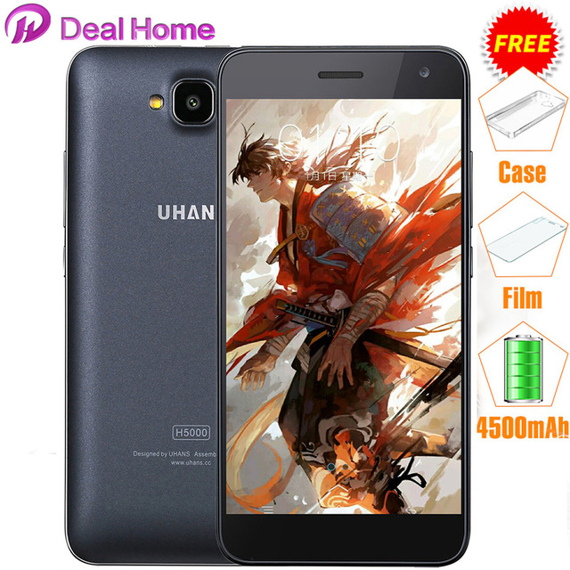 "In stock! Uhans H5000 Mobile Phone 4G FDD LTE MTK6737 4500mAh 5.0"" 3GB Ram+32GB Rom 13.0MP HD OTG Smartphone"