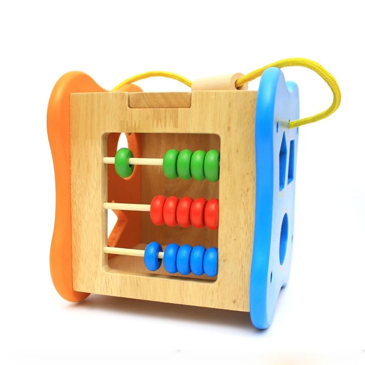 Chanycore bébé apprentissage jouets éducatifs en bois forme géométrique blocs boîte perles horloge tri correspondant ww Montessori cadeaux 4106 - 5