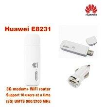 Huawei e8231 открыл мобильный Wi-Fi HSPA + 21 Мбит 3G Wi-Fi модем маршрутизатор + Автомобильное зарядное устройство