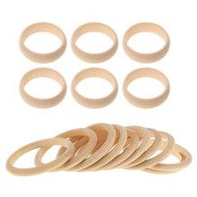 16 штук необработанные из натурального дерева, пустые браслеты для браслета DIY, 8 мм, 22 мм в ширину