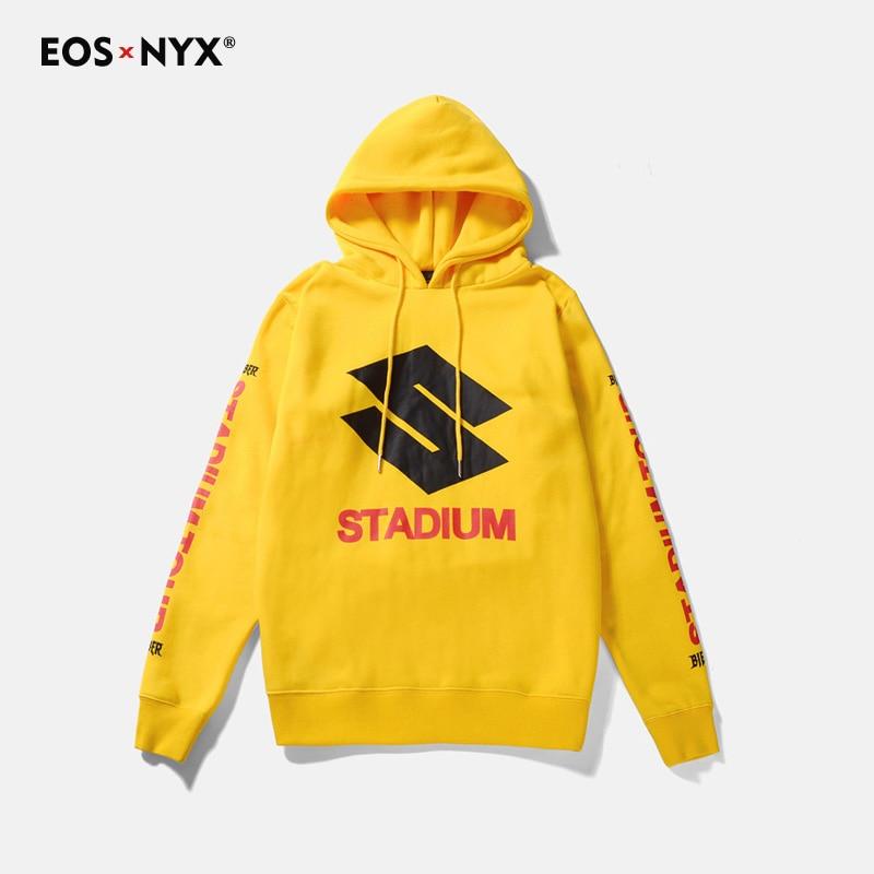 Eosnyx Джастин Бибер стадион Purpose Tour Флисовые толстовки желтый мужские полосой печати SWAG кофты