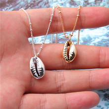 Summer Beach Gold Silver Color Conch Shell Necklaces for Women Seashell Shape Pendant Simple Ocean Boho Jewelry