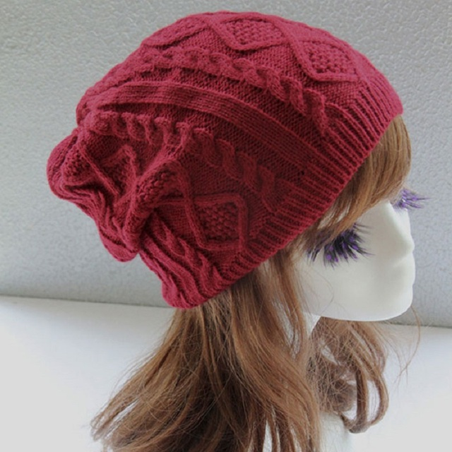 Frauen Neues Design Caps Twist Muster damen Winter Hut Gestrickte ...