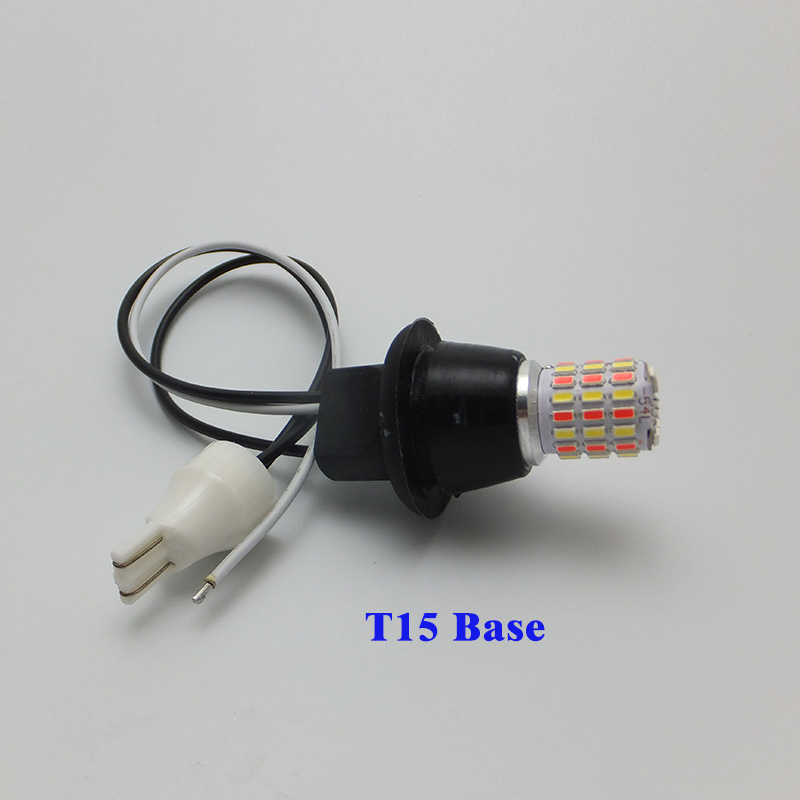 AMYWNTER 2018 New T20 7440 12V T10 W5W LED Light Dual Color Switchback Turn Signal Lamp Bulb Daytime Running Light DRL in Signal Lamp from Automobiles Motorcycles
