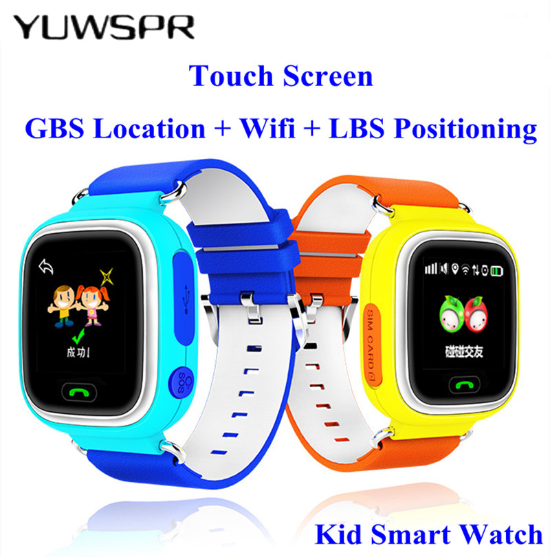 Kids Tracker Watches Touch Screen Anti Lost  WIFI SOS Call Location Device Watch Monitor Baby Clock Q90