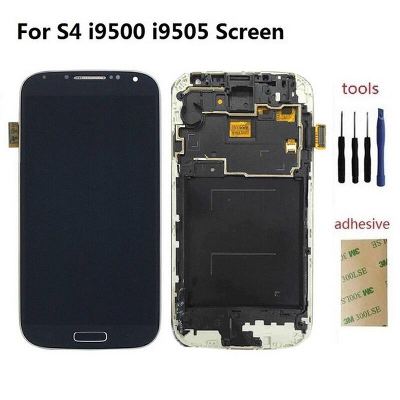 Per Samsung Galaxy S4 I9500 I9505 i337 Display LCD Touch Screen Digitizer Sensore di Vetro Pannello Assembly + Adesivo + KitPer Samsung Galaxy S4 I9500 I9505 i337 Display LCD Touch Screen Digitizer Sensore di Vetro Pannello Assembly + Adesivo + Kit