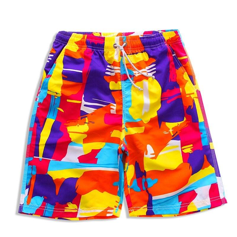 Men Printing Board Shorts Loose Beach Shorts SPA Swimsuit Quick Dry Beach Pants Swim Shorts Surfing & Beach Shorts Swimwear