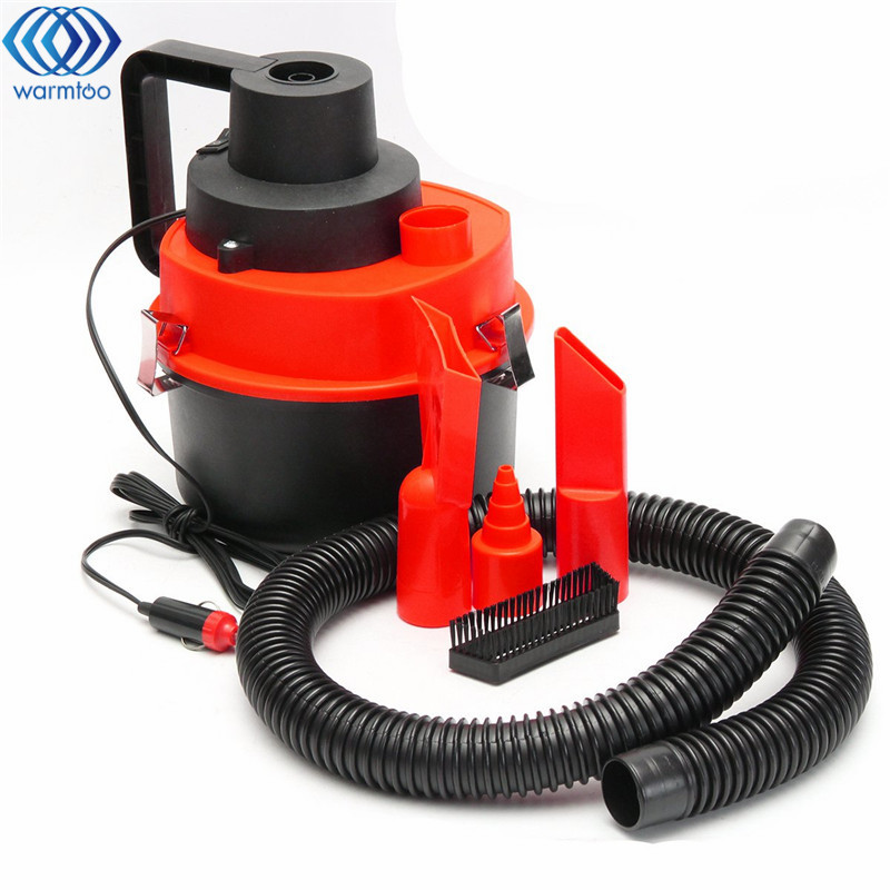 1Pcs 75W  DC 12V Wet Dry Vacuum Cleaner Inflator Portable Turbo Hand Held for Car Home Office 2 in 1 multifunction tire inflator air compressor w vacuum cleaner yellow dc 12v