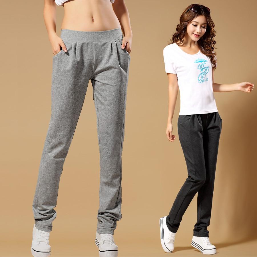 La mujer pantalones casuales pantalones femeninos del ...