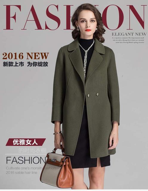 2017 beautiful Fashion Plus Size Winter Coat Women Long Wool Coats ...