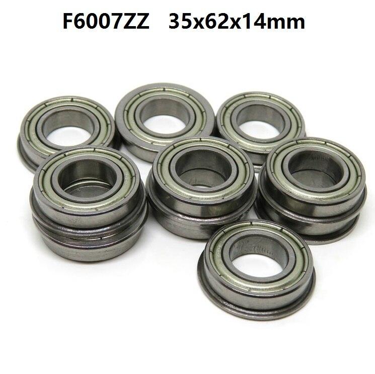 5 pièces/10 pièces roulement à bride F6007ZZ F6007 ZZ 2Z Z 35x62x14mm miniature bride roulements à billes à gorge profonde 35*62*14