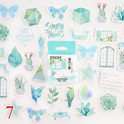 45 шт./кор. канцелярские наклейки парным DIY Планета липкий Бумага Kawaii Луна растения наклейки для украшения дневник в стиле Скрапбукинг - Цвет: Design 22