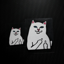 NO.LS020 Waterproof Cartoon Evil Cat Reflective Car Stickers Decals MOTO GP Motorcycle Bike Motocross Helmet Windshield
