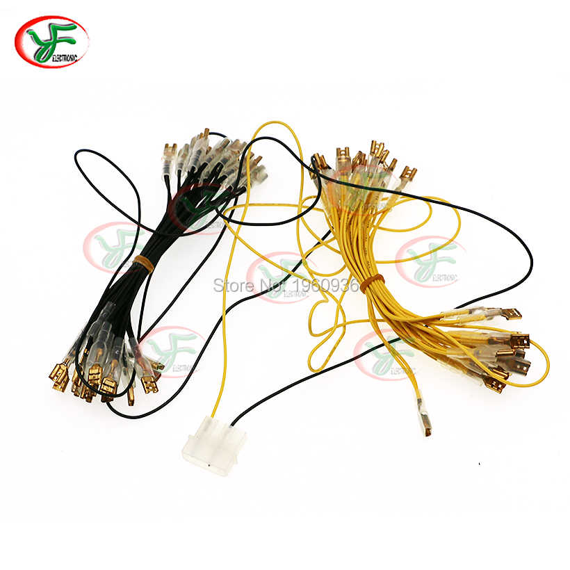 LED lamp Wire with 6.4mm quick connector and MOLEX style connector for 30pcs illuminated light bulb /arcade accessories