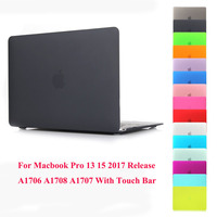 Matte Hard Laptop Case Voor Apple MacBook Pro 13 15 Case 2017 A1706 A1708 A1707 w/out Touch Bar Pro 13 15 Beschermende Shell Cover