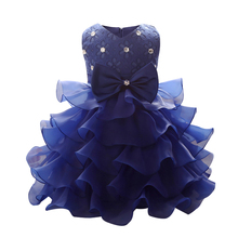 Summer Holiday Kids Dresses For Girls 2017 Princess Wedding Party Dress Baby Girl Clothes 1 Year Bridesmaid Baby Clothing bebes