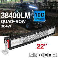 COLIGHT LED Light Bar 22 Inch 4 Row 384W Curved Offroad Combo Beam Auto Work Light