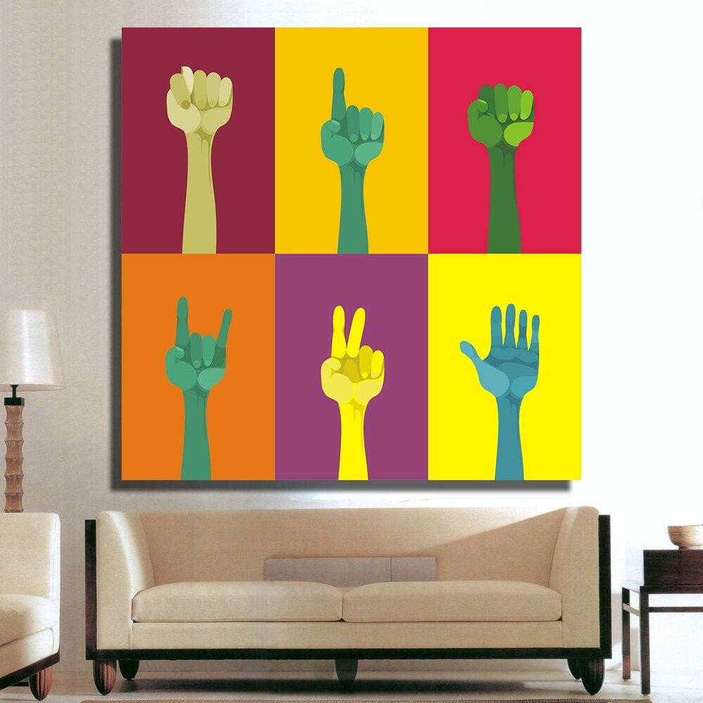 popular pop art artworks buy cheap pop art artworks lots from qk art no framed artwork pop art hands oil paintings on canvas wall pictures for living