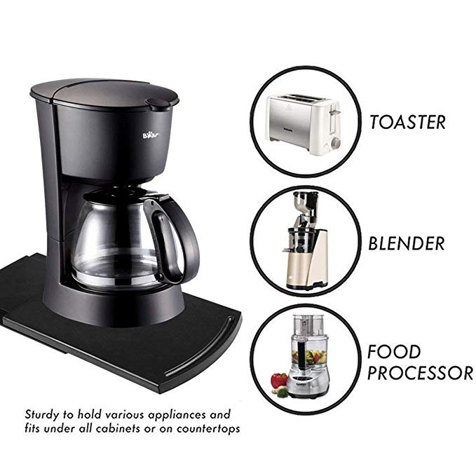 Multiuse Handy ABS Base Smooth Rolling Wheels Stand Under Cabinet Countertop Storage Coffee Maker Blender Toaster Kitchen Tools