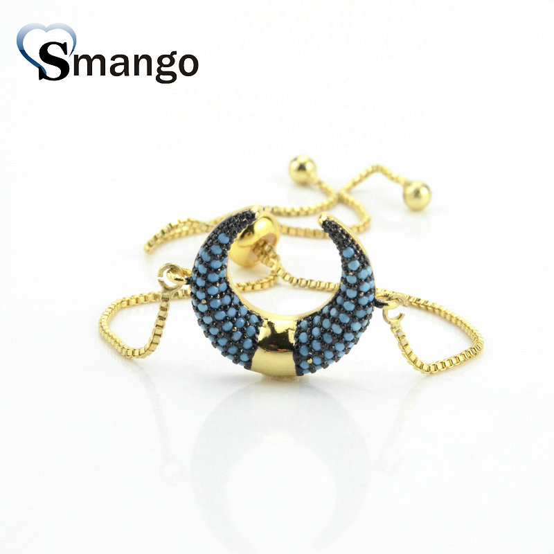 5Pieces The Rainbow Series Women Fashion The Ox Horn Shape Bracelet 6Colors Can Wholesale If You Need Connector Contact Us in Chain Link Bracelets from Jewelry Accessories