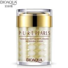 """60ML """"BIOAQUA"""" prekės ženklas """"Pure Pearl Essence"""" veido kremas """"Deep Moisturizing"""" odos priežiūra nuo raukšlių """"Face Care Whitening Essence Cream"""""""