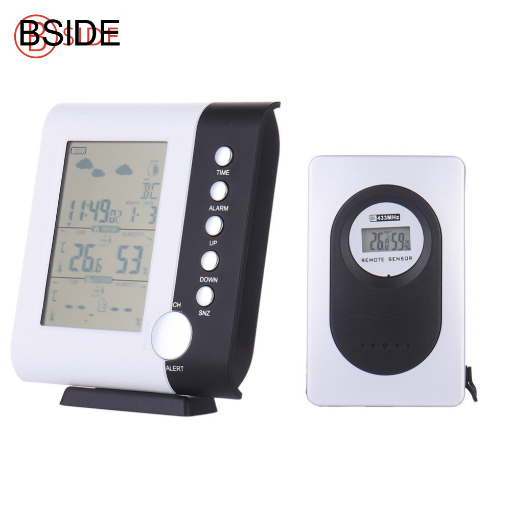 Wireless Weather Station Forecast Table Snooze Alarm Clock Display Calendar Temperature Thermometer Humidity Hygrometer все цены