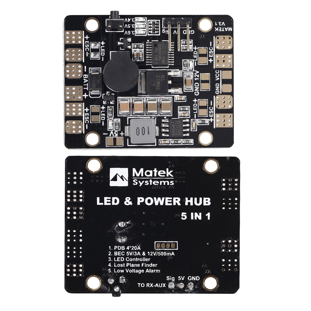 1pcs Matek Systems 5 IN 1 PDB V3 LED & POWER HUB Dual BEC 5v/12V LED Controller Lost Plane Finder Tracker Low Voltage Alarm interference cancellation methods in mimo ofdm systems