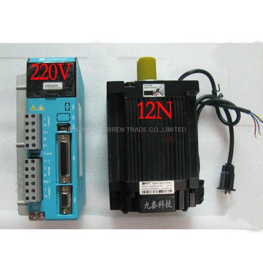 2 Kit d'entraînement de moteur pas à pas en boucle fermée DSP 3ph 1.2 degrés 4.2A 12NM NEMA42 110mm 20VAC mélange servomoteur 1103HBM120H-1000 + HBS2206
