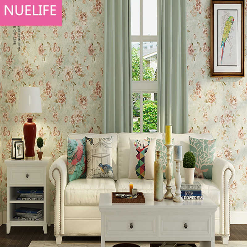 0.53x10m American Village Nostalgic Pastoral Large flowers  Oil Painting Wallpaper Wedding Room Bedroom Living Room  Wallpaper book knowledge power channel creative 3d large mural wallpaper 3d bedroom living room tv backdrop painting wallpaper