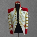 G-dargon Men singers bigbang stage show white suit jacket star blazer chain royal dress concert costumes S-5XL free shipping