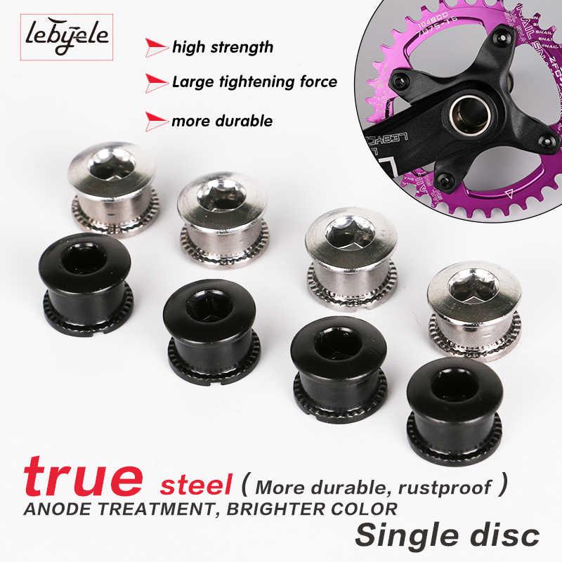 5 คู่ MTB เล็บแผ่นทันตกรรมสกรูแผ่นเหล็ก Chainwheel สกรูจักรยาน Crank แผ่น Crusset Nut ชิ้นส่วนจักรยานอุปกรณ์เสริม