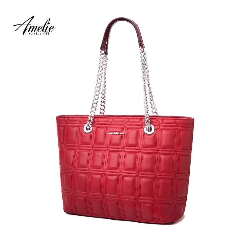 AMELIE GALANTI new fashionl women tote bag casual Ladies shoulder shopping bags geometric soft zipper solid original design 2017